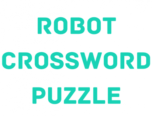 Robot Crossword Puzzle